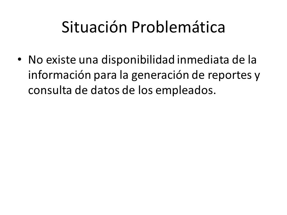 Situación Problemática