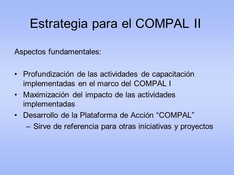 Estrategia para el COMPAL II
