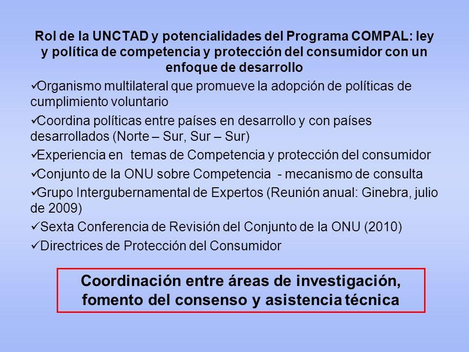 Rol de la UNCTAD y potencialidades del Programa COMPAL: ley y política de competencia y protección del consumidor con un enfoque de desarrollo