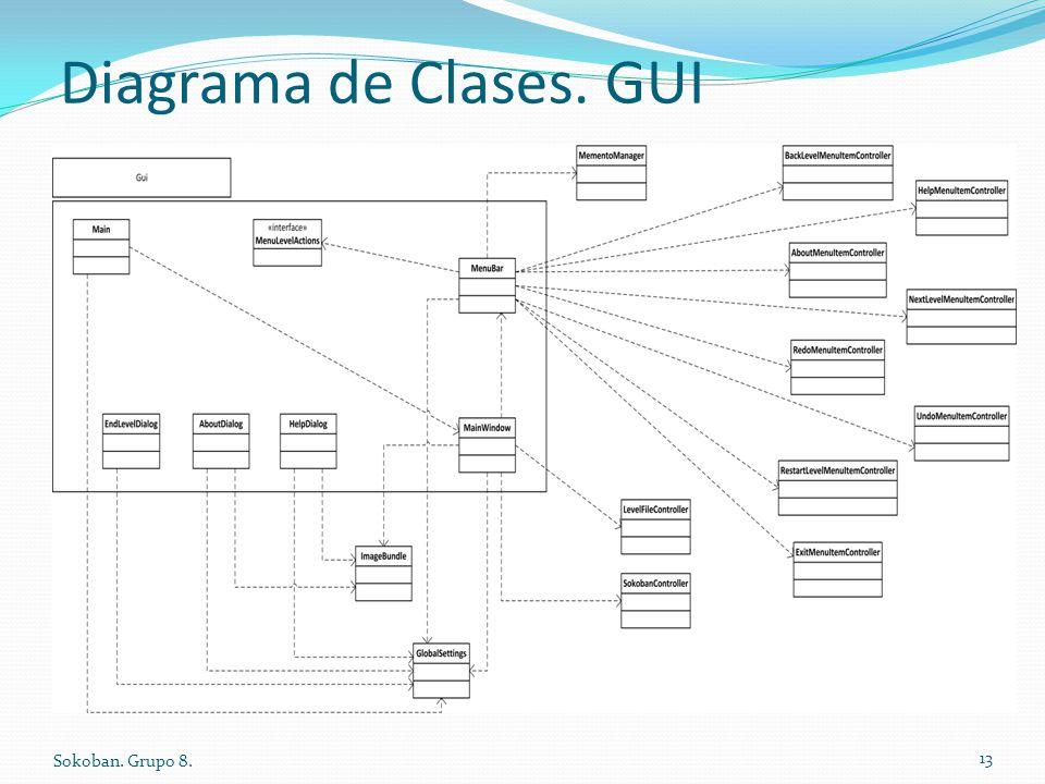 Diagrama de Clases. GUI Sokoban. Grupo 8.