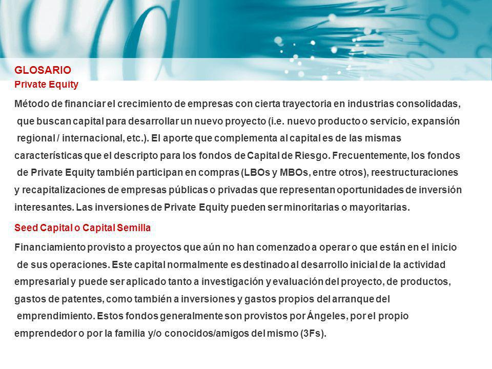 GLOSARIO Private Equity