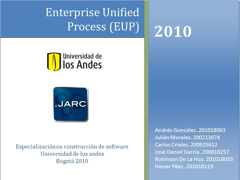 2010 Enterprise Unified Process (EUP)
