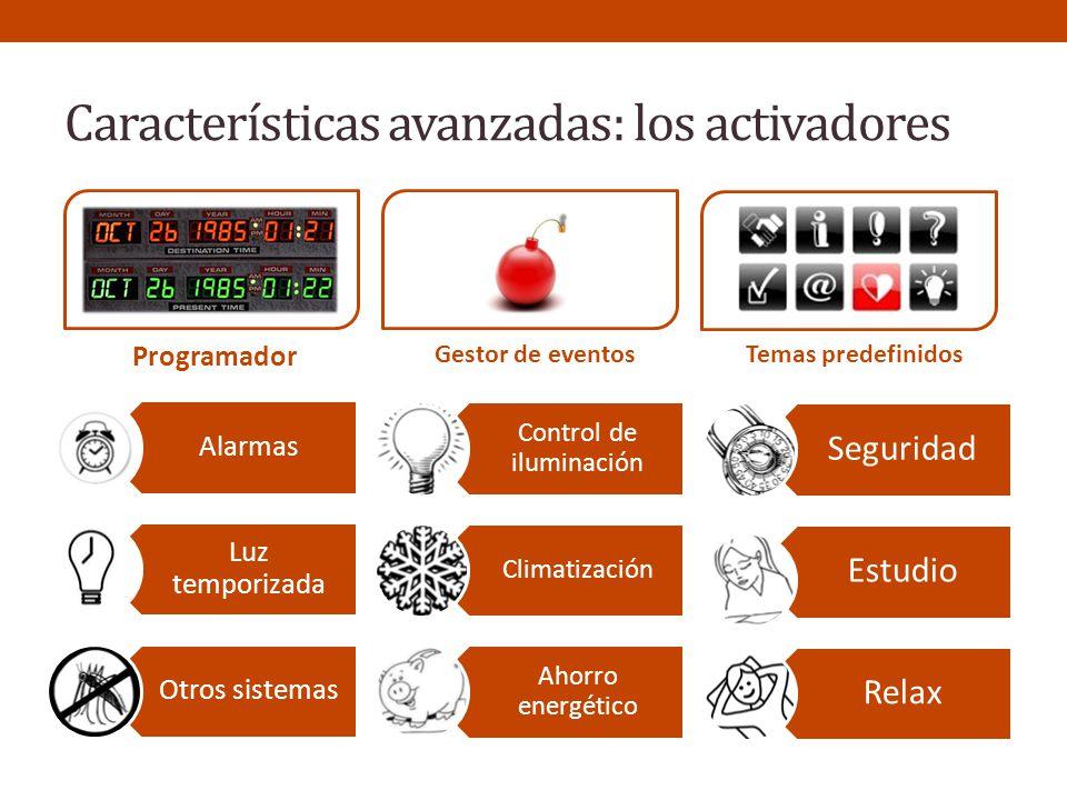 Características avanzadas: los activadores
