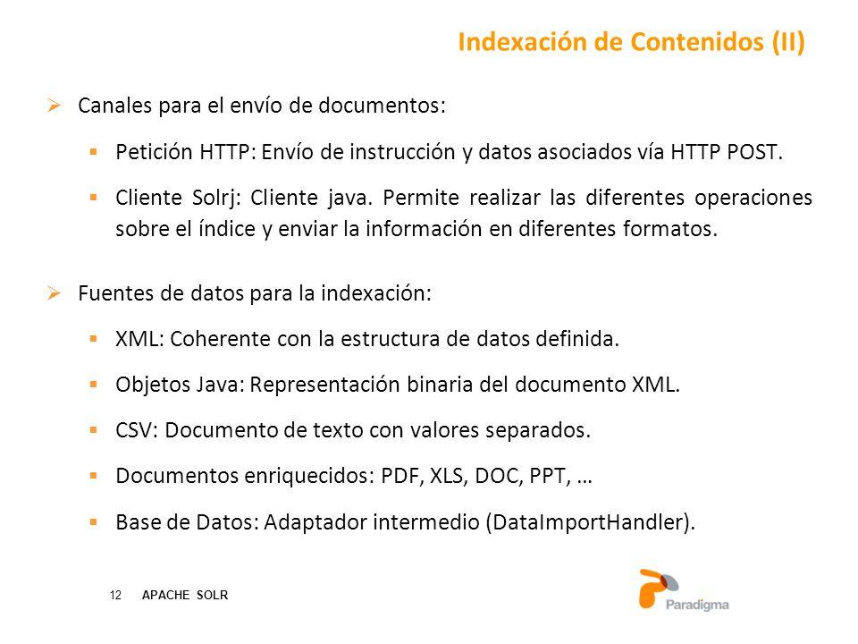 Indexación de Contenidos (II)