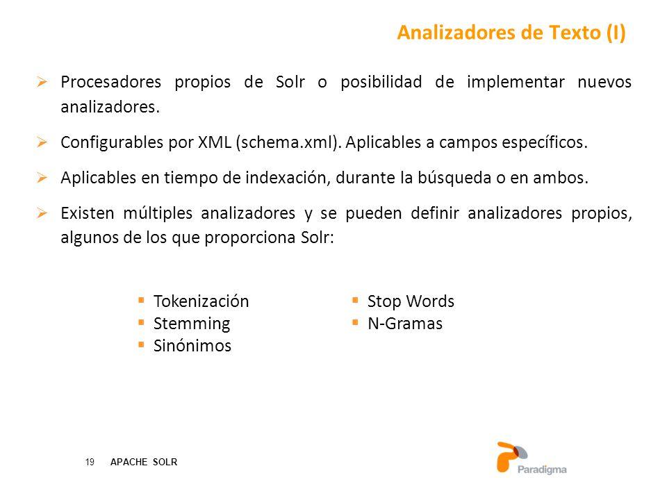 Analizadores de Texto (I)