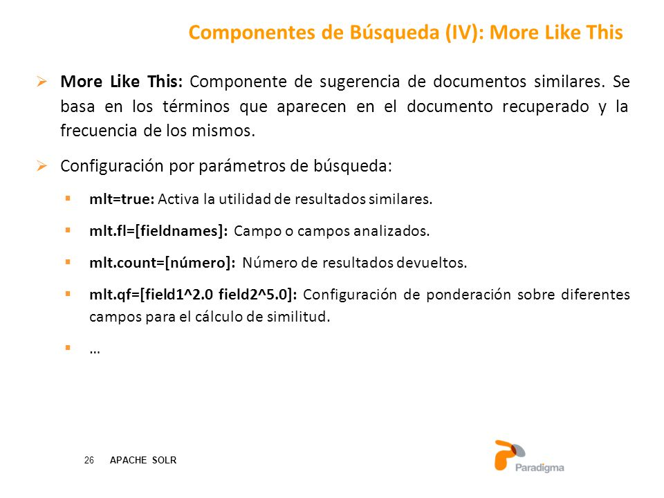 Componentes de Búsqueda (IV): More Like This