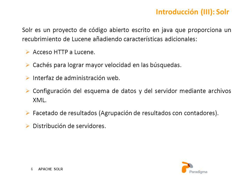 Introducción (III): Solr