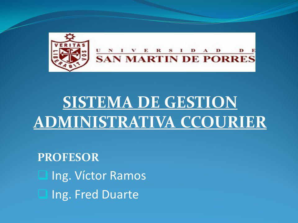 PROFESOR Ing. Víctor Ramos Ing. Fred Duarte