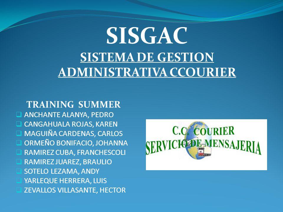 SISTEMA DE GESTION ADMINISTRATIVA CCOURIER