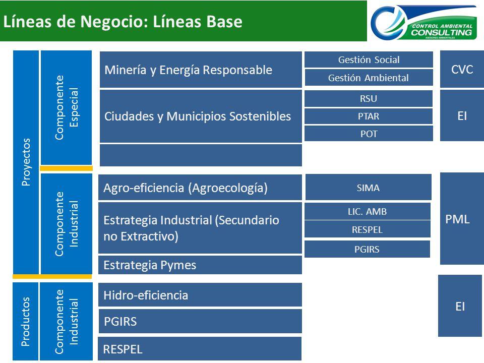 Líneas de Negocio: Líneas Base