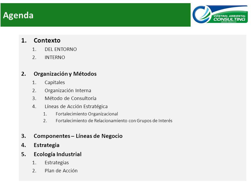 Agenda Contexto Organización y Métodos Componentes – Líneas de Negocio