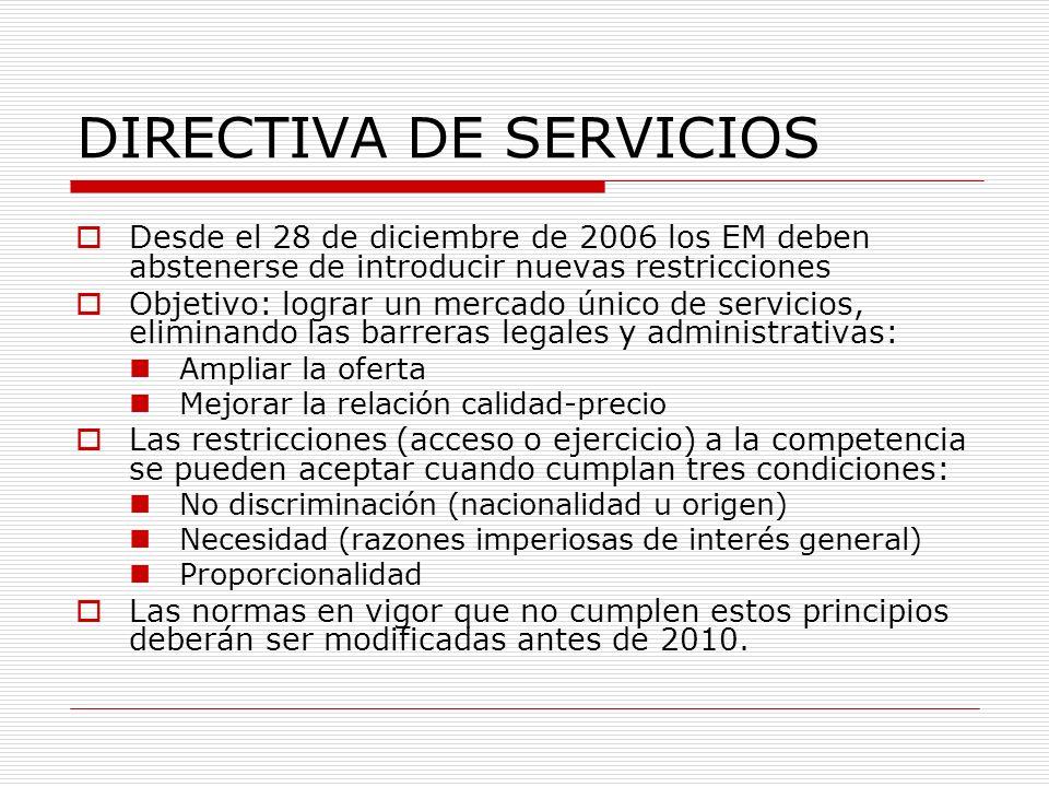 DIRECTIVA DE SERVICIOS