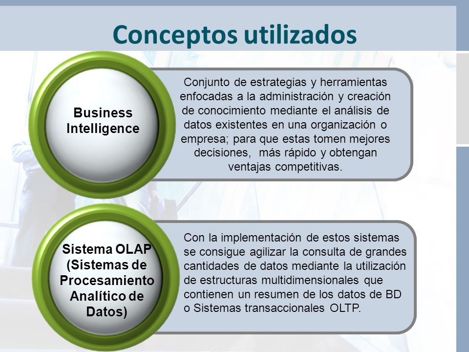 Conceptos utilizados Business Intelligence