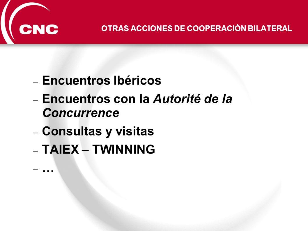 OTRAS ACCIONES DE COOPERACIÓN BILATERAL