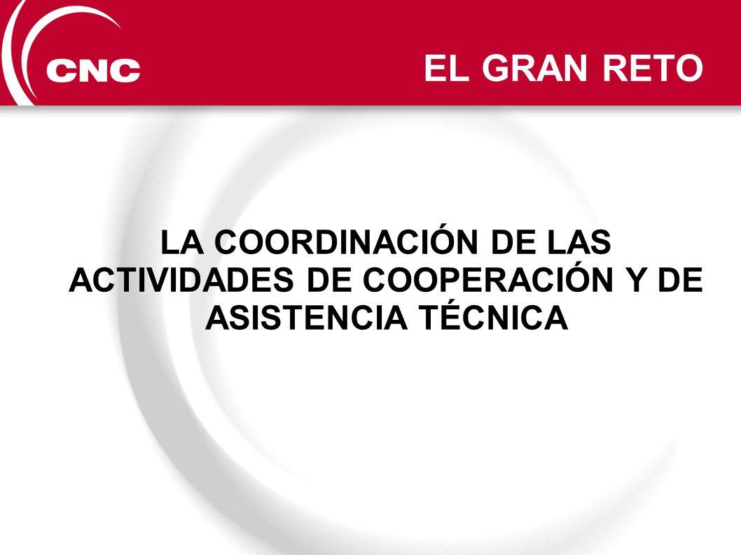 EL GRAN RETO LA COORDINACIÓN DE LAS ACTIVIDADES DE COOPERACIÓN Y DE ASISTENCIA TÉCNICA