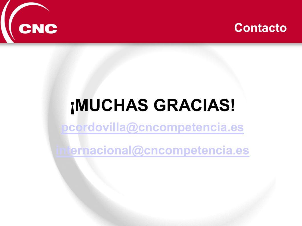 ¡MUCHAS GRACIAS! Contacto pcordovilla@cncompetencia.es