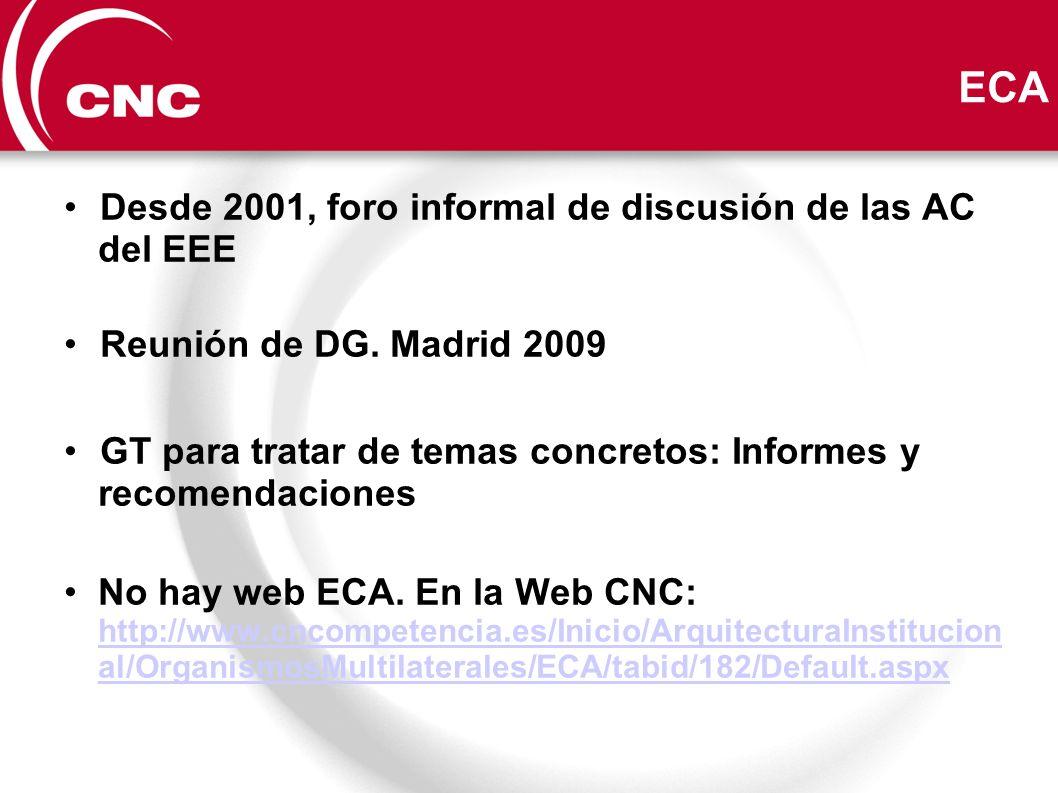 ECA Desde 2001, foro informal de discusión de las AC del EEE