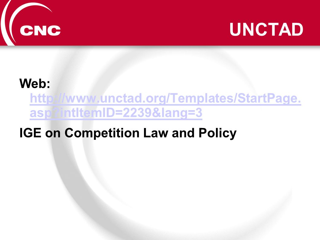 UNCTAD Web: http://www.unctad.org/Templates/StartPage.