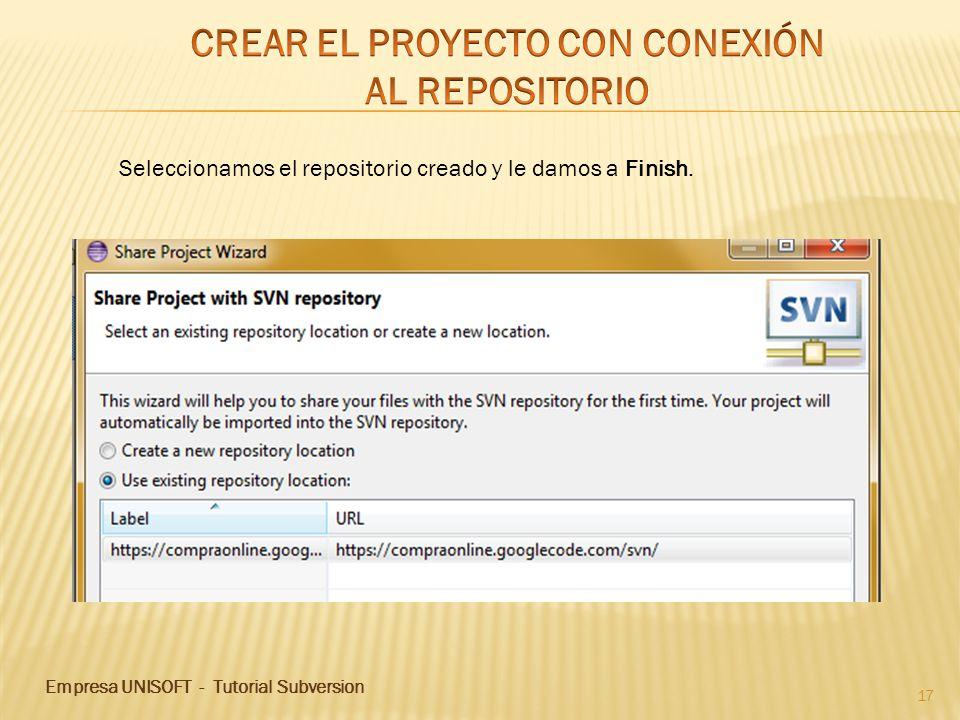 CREAR EL PROYECTO CON CONEXIÓN