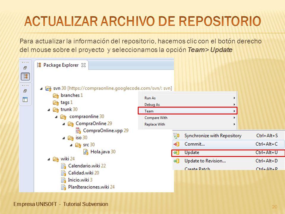 ACTUALIZAR ARCHIVO DE REPOSITORIO