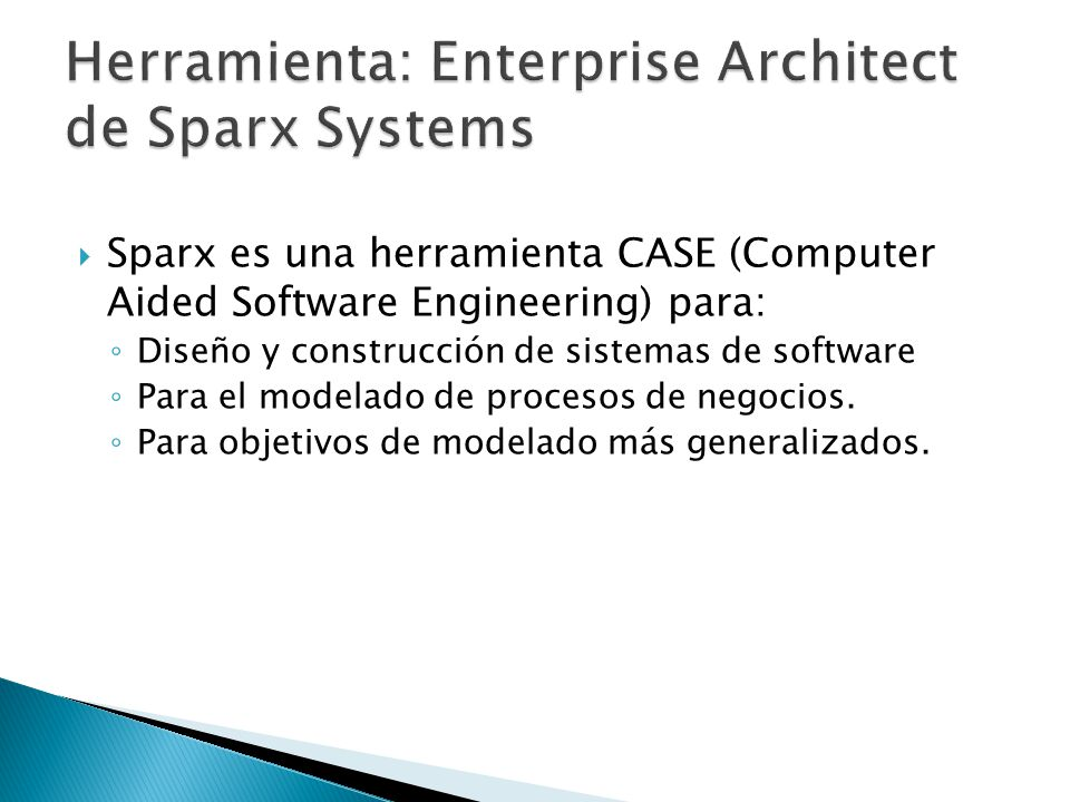 Herramienta: Enterprise Architect de Sparx Systems