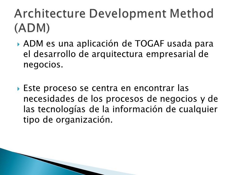 Architecture Development Method (ADM)