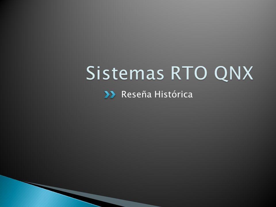 Sistemas RTO QNX Reseña Histórica