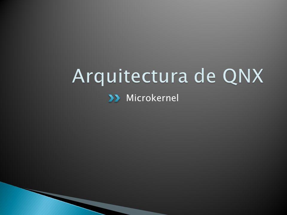 Arquitectura de QNX Microkernel