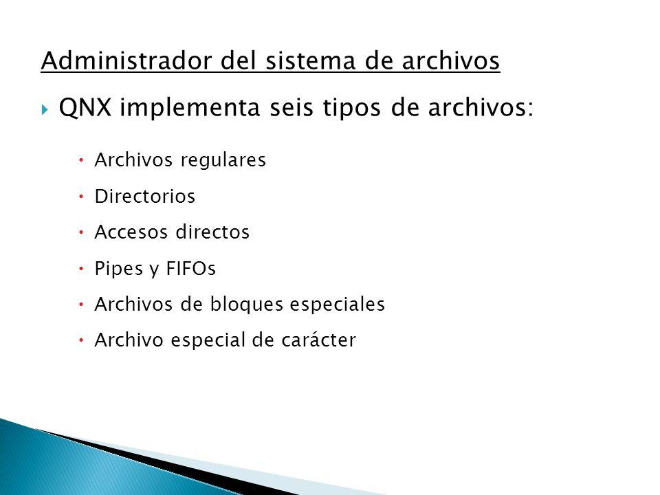Administrador del sistema de archivos