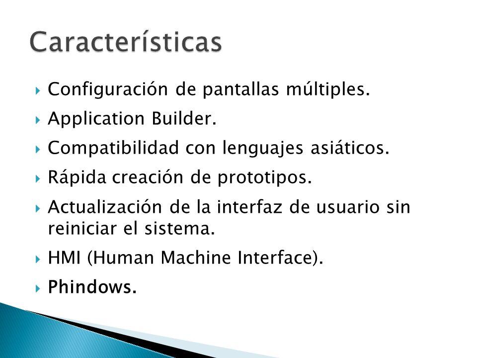 Características Configuración de pantallas múltiples.