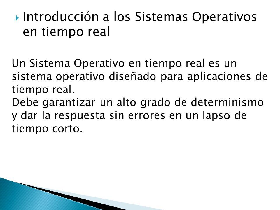 Introducción a los Sistemas Operativos en tiempo real