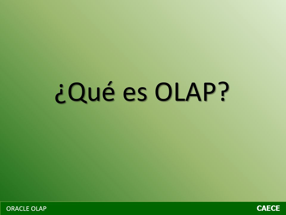 ¿Qué es OLAP