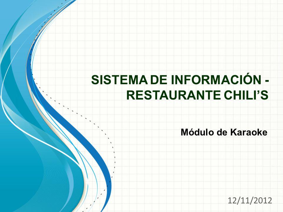 SISTEMA DE INFORMACIÓN - RESTAURANTE CHILI'S