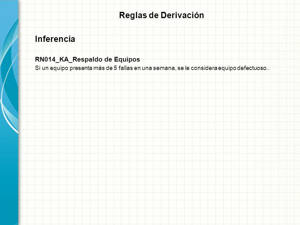 Reglas de Derivación Inferencia RN014_KA_Respaldo de Equipos