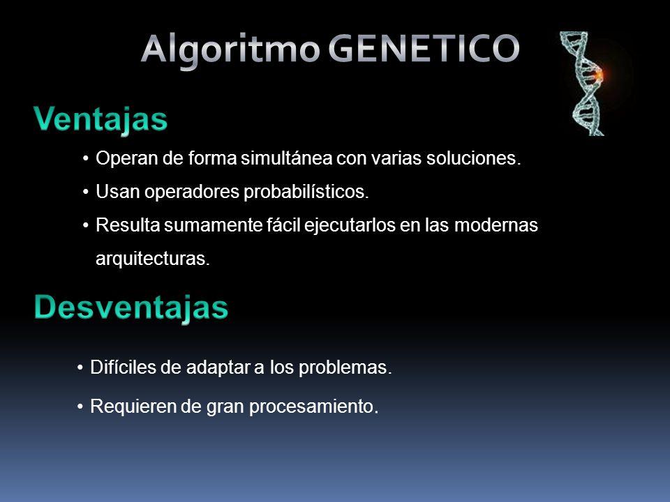 Algoritmo GENETICO Ventajas Desventajas