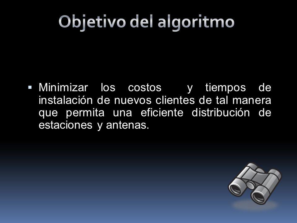 Objetivo del algoritmo