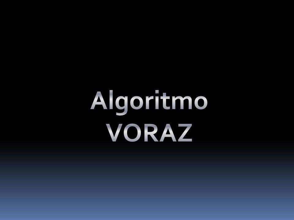 Algoritmo VORAZ