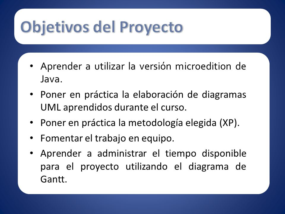 Objetivos del Proyecto