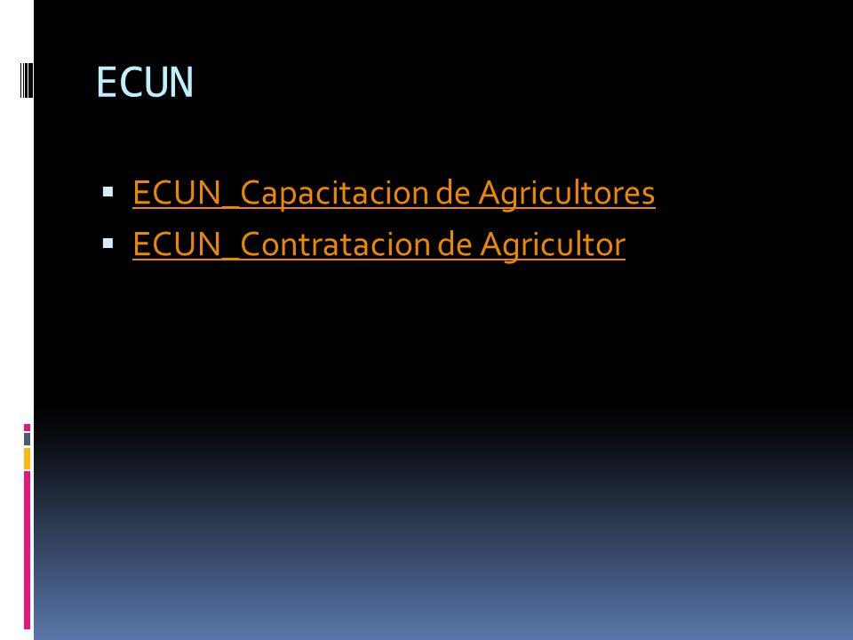 ECUN ECUN_Capacitacion de Agricultores ECUN_Contratacion de Agricultor