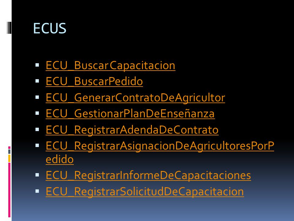 ECUS ECU_Buscar Capacitacion ECU_BuscarPedido