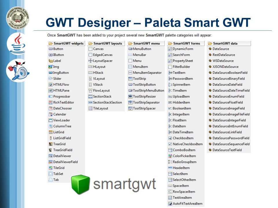 GWT Designer – Paleta Smart GWT