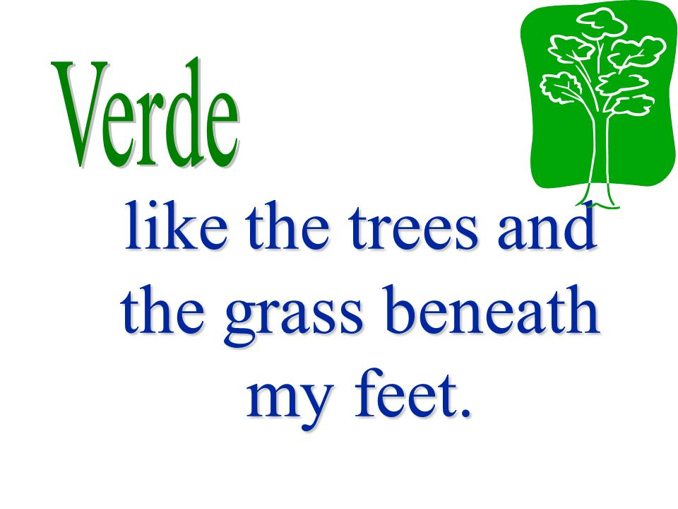 like the trees and the grass beneath my feet.