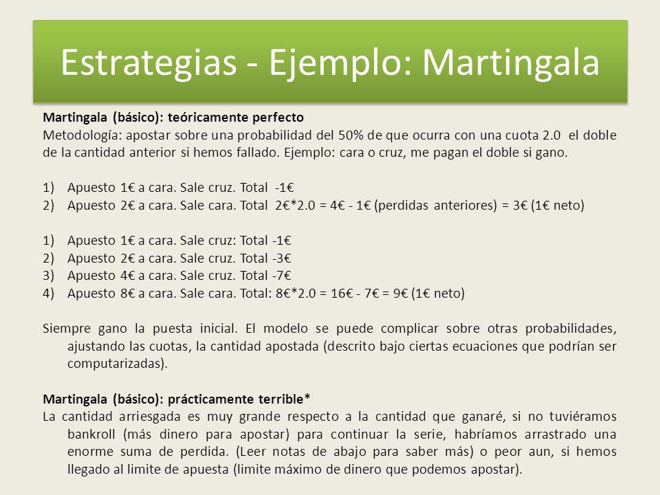 Estrategias - Ejemplo: Martingala