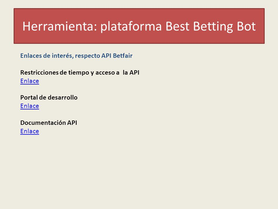 Herramienta: plataforma Best Betting Bot