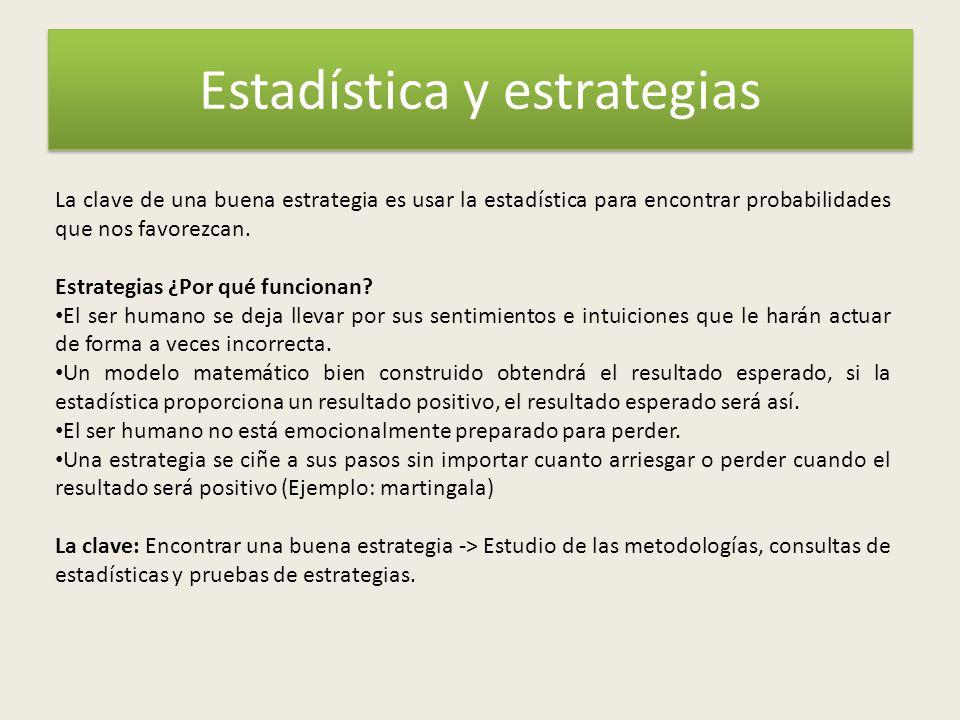 Estadística y estrategias
