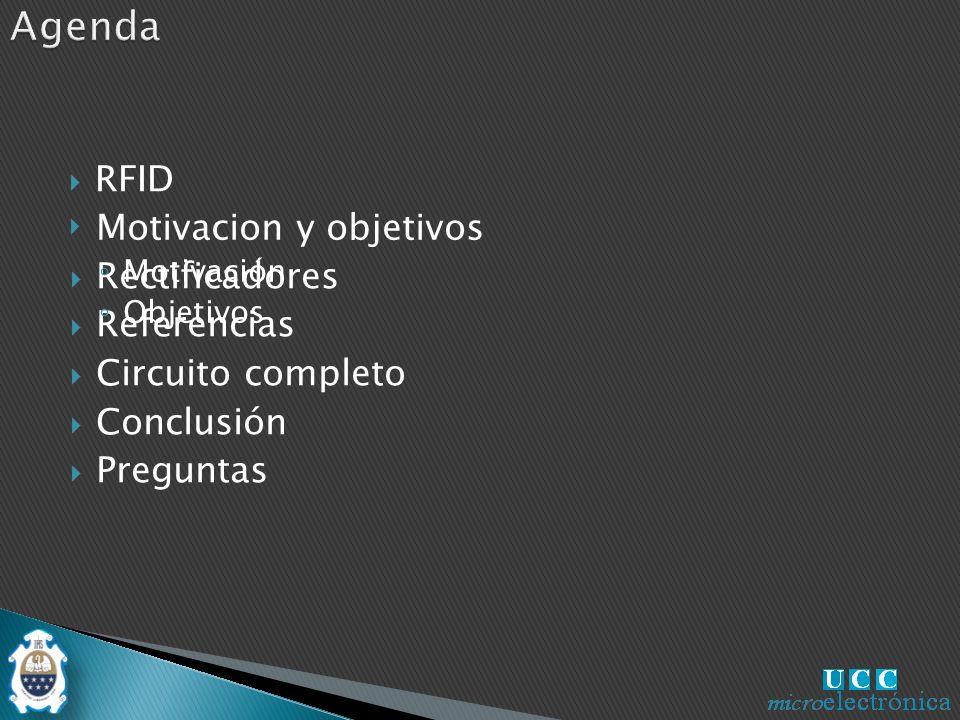 Agenda RFID Motivacion y objetivos Rectificadores Referencias