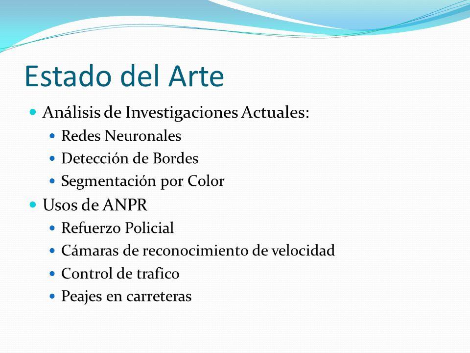 Estado del Arte Análisis de Investigaciones Actuales: Usos de ANPR