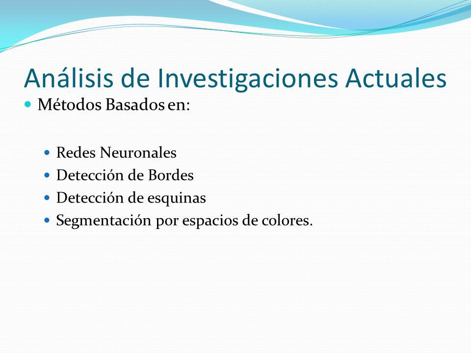 Análisis de Investigaciones Actuales