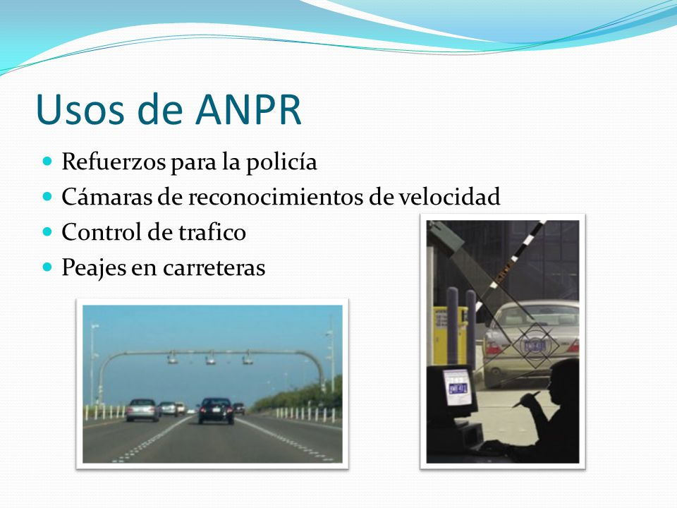 Usos de ANPR Refuerzos para la policía