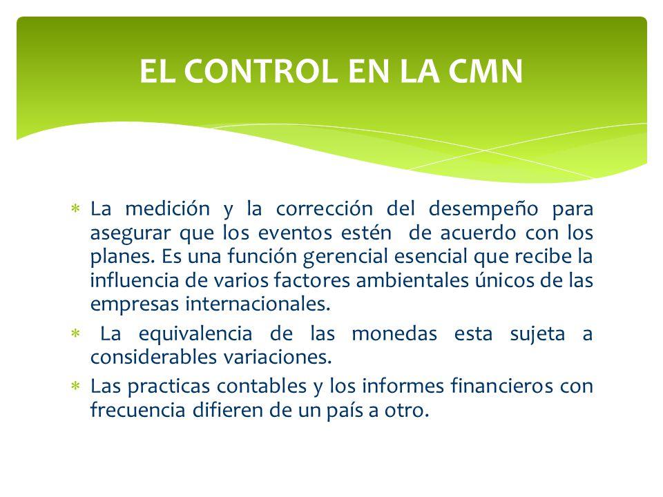 EL CONTROL EN LA CMN